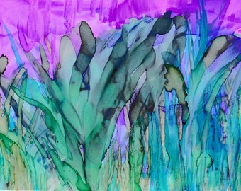 """Untitled: Limited Edition 5"""" x 7"""" Print of Original Alcohol Ink Painting"""