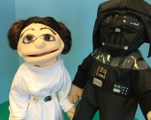 Star Wars look alike portrait  Muppet Puppet Great gift  Starwars lovers  YouTube movies  teachers  aid TV show