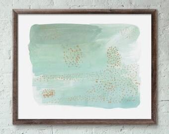 Aquatic Abstract Art Print
