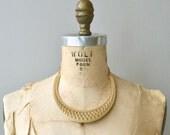Nephythys choker | vintage gold choker necklace