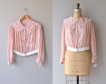 Sitting Pretty blouse | vintage 1920s blouse | silk 20s blouse