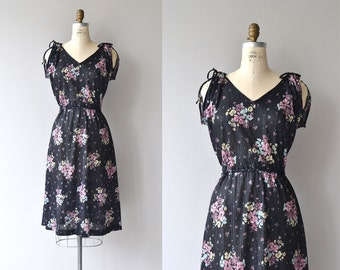 Floral Mix dress   vintage 1970s dress   floral print 70s dress