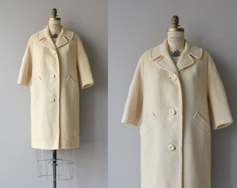 Addison wool coat | vintage 1960s coat | cream wool 60s coat