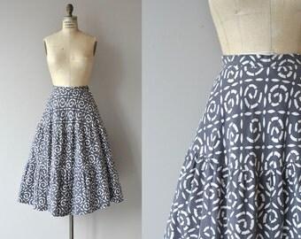 Cambrian Swirl skirt | vintage 1950s skirt | cotton 50s skirt