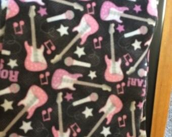 10 pink guitar felt new