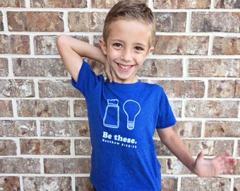 Salt and Light - Be These - Christian Tee - Kids Clothes - Boys Clothing - Positive Message Shirts - Vintage Kids Shirt - Bible Verse