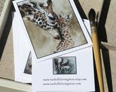 mom gift for her card elephant card elephant stationery set giraffe card giraffe NOTECARDS lion card watercolor Blank variety animal SET 1