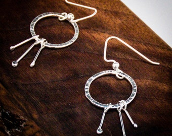 Small Sterling Silver Shooting Star Earrings