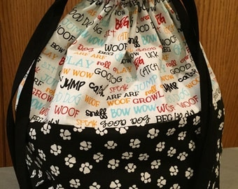 Dogs! - Lined Drawstring Project Bag