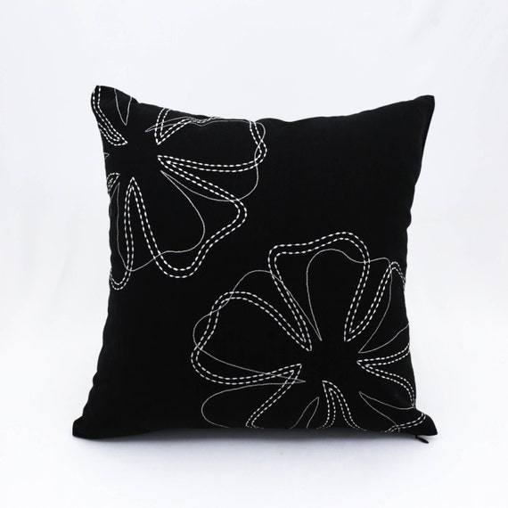 Decorative Floral Pillow Covers : Floral Pillow Cover Decorative Throw Pillow Cover Modern