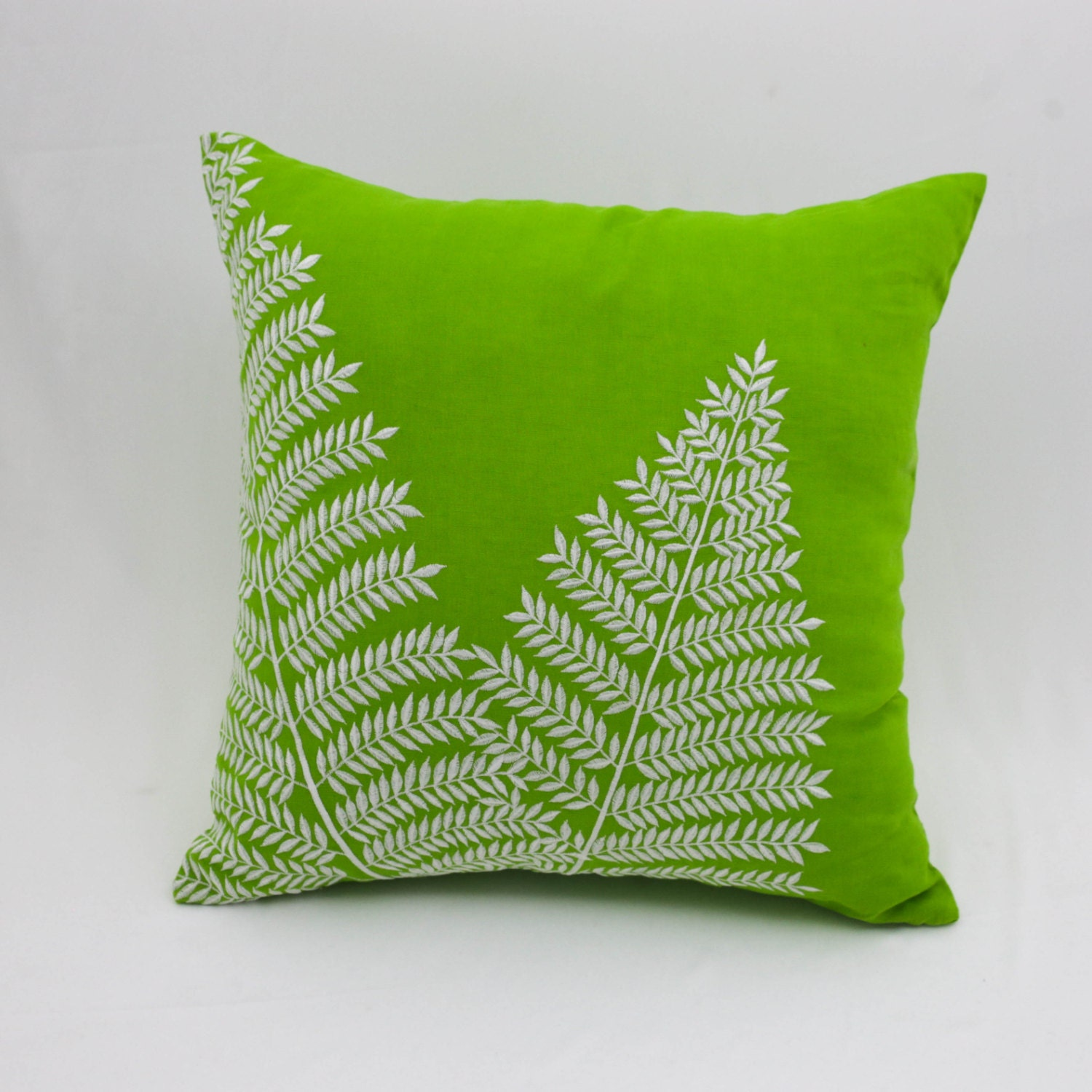 Decorative Pillows Linen : Fern Throw Pillow Cover Decorative Pillow Green Linen Off