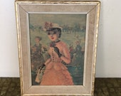 The Victorian Sweetheart - 1950's Victorian Lady Wall Hanging