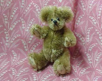 1995 Wee Gem Teddy Bear Artist Miniature Signed Chu-Ming-Wu Humpback Mohair 309/3000 Andy