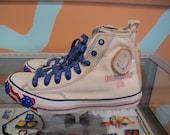 LA GEAR Election 88 Sneakers Size Men's 8.5 Converse Style American Flag Print Shoes Hi Top