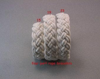 four part rope bracelet cotton turks head knot bracelet nautical sailor bracelet rope jewelry 3648