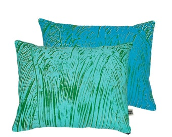 Painter Turquoise/Mint Screen-Printed cushion
