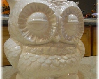 utensil holder kitchen organization owl large ceramic planter Owl Garden  . owlpl