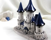 Reserved for Nancy -  White Witch Castle -- Hand Made Ceramic Eco-Friendly Home Decor by studio Vishnya