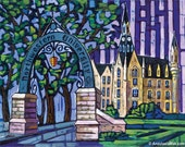 Northwestern University, Weber Arch, Northwestern Campus, Evanston IL, 8x10 Art Print