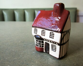 Vintage Ceramic Cottage, Mudlen End Studio Shop, Made in England, Mudlen End Cottage, Miniature Building, Mini Village, Ceramic House