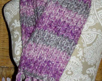 Soft Purple and Grey Scarf
