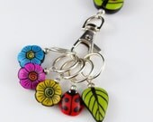 Brilliant Blooms Stitch Marker Set