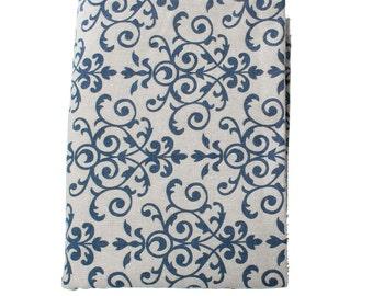 """Light Blue Cotton/Linen Fabric - 63"""" x 1 yard"""