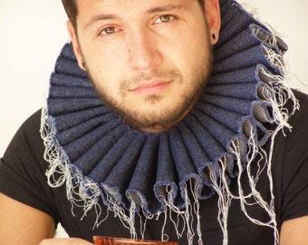 "Denim  Ruff  Collar ""Prince Enzo"""