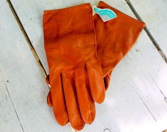 LEATHER Gloves Tan Old Stock VAN RAALTE