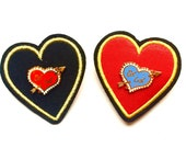 "GET LOST- 1.3"" Valentine Lapel Pin- Red or Blue"