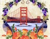 American Album California Golden State Block 16 pattern by Pearl P. Pereira