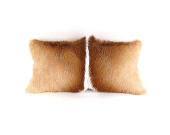 Small Brown Fur Pillow