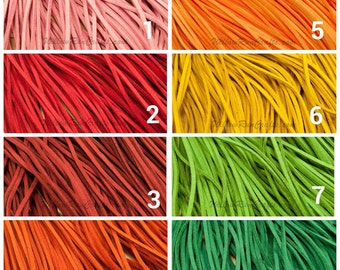 "15 Suede Necklaces 16-18"" Length, Pick Your Colors"