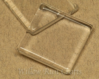 Discount 50 Medium Ultra White Crystal Clear Glass 1 3/8 inch Square Tiles