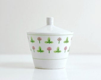 Vintage Ironstone Clover Sugar Bowl by Harmony House