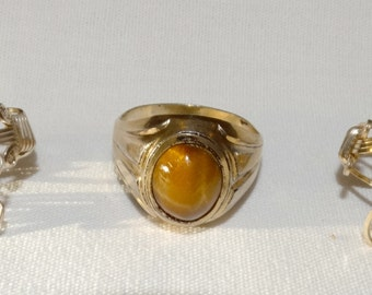 Three Early 14k Gold Filled Rings
