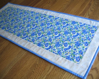 Quilted Table Runner in a Yellow Blueberry Pattern