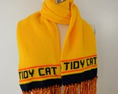 sale Vintage TIDY CAT winter SCARF soft acrylic 1980's