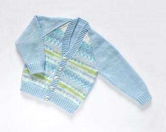 "Boys ""Mr Spaceman"" Cardigan. Hand Knit Cardigan. Hand Knit Childrenswear."