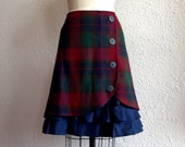 Yvette wool ruffle front skirt Sz 8