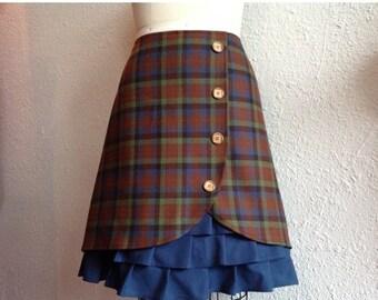 SALE Brigitte wool ruffle front skirt Sz 12