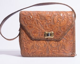 Vintage Tooled Small Leather Purse