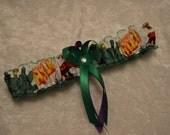Handmade wedding garters toss HULK wedding garter set