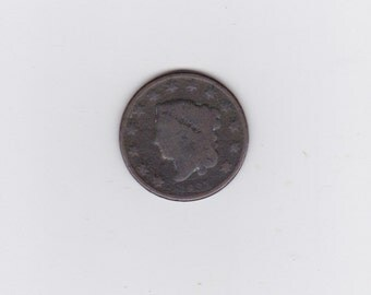 1831 large Matron head one cent coin