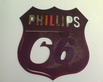 Vintage Phillips 66 Rubber Stencil Gas Station Advertising Collectible Incomplete