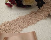 Blush Pink Wedding Sash, Bridal Blush Pink  Belt, Rose Pink Sashes, Extra Wide Lace Sash, Extra Wide Bridal Sashes, Wedding Belts and Sashes