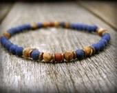 mens bracelet, Lapis Bracelet, mens jewelry, native american,  Minimalist Bracelet, bracelet for men,  stack bracelet, mens beaded bracelet