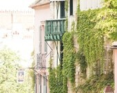 Paris Photography, Summer Ivy in Montmartre, Paris Photography, Montmartre Art, Fine Art Photography, Pink, Green, Nature, Paris Wall Art