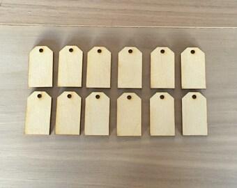 Tag Shapes Small- Laser Cut Wood Tag Shapes Set Of 12