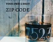 Zip Code Etched Old Fashioned   Scotch   Rocks Glass - Housewarming - Closing Gift - Wedding